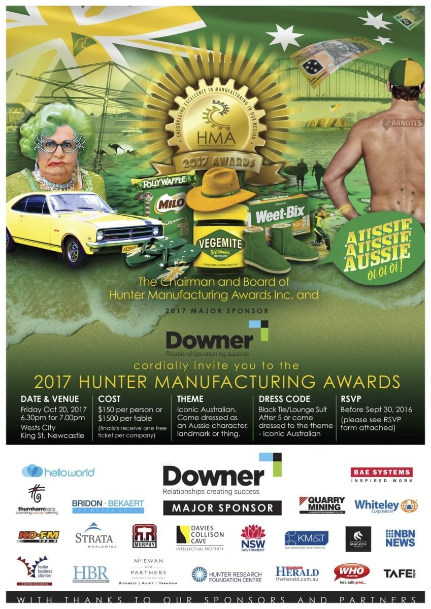 Invitation Hunter Manufacturing Awards 2017
